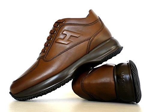 Hogan interactive scarpe sneaker uomo H rilievo HXM00N090427X7S801 Cacao vintage
