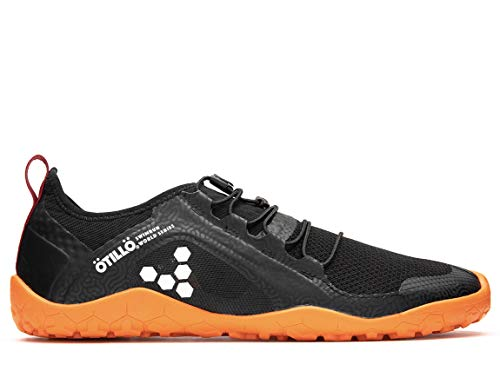 vivobarefoot Primus Swimrun, Mens Swimrun Trail Running Shoe, with Barefoot Sole Black from vivobarefoot