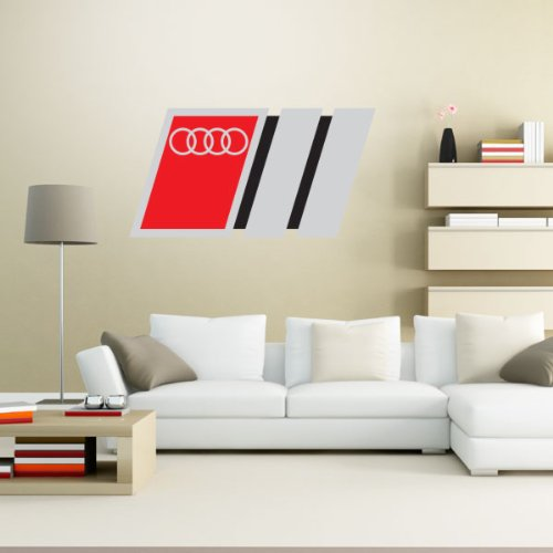 Audi Racing Stripes car styling Wall Graphic Decal Sticker 25″ x 13″