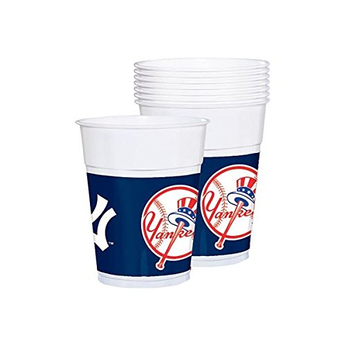 New New York Yankees Major League Baseball Collection Plastic Party Cups