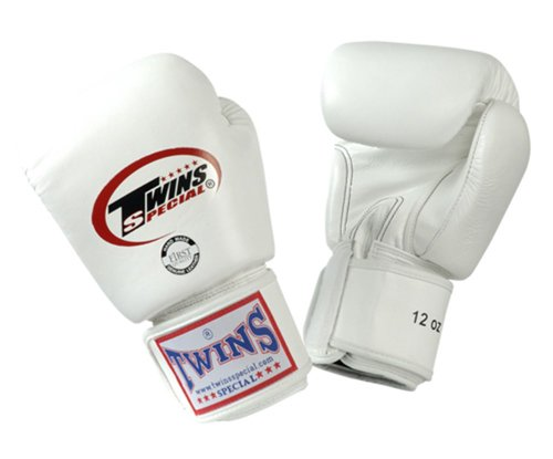Twins Special Muay Thai Boxing Gloves BGVL-3 White 8-10-12-14-16 Oz. (12 Oz.)