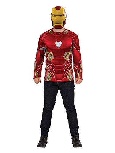 Rubie's Men's Marvel Avengers Infinity War Iron Man Costume Top and Mask, -