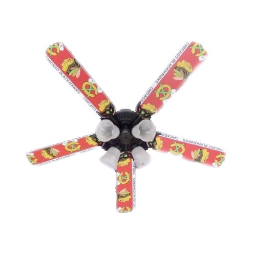 Ceiling Fan Designers Ceiling Fan, NHL Chicago Blackhawks Hockey, 52