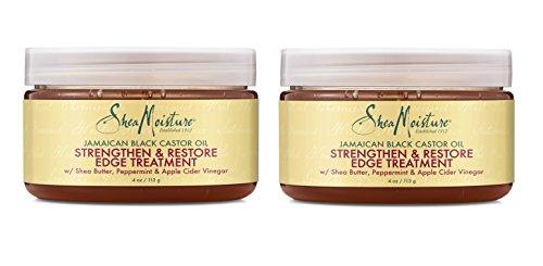 Shea Moisture Jamaican Black Castor Oil Strengthen & Restore Edge Treatment, 4 Oz, Pack of 2 by Shea Moisture