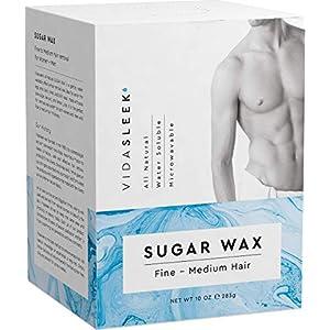 Hair Removal Sugar Waxing Kit Men + Women, All Natural (10 oz)