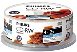 Philips CDRW8012/550 CD-RW 25PK Spindle