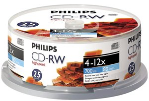 Philips CDRW8012/550 CD-RW 25Pk Spindle