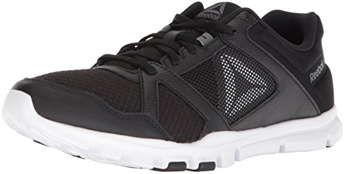 Reebok Mens Yourflex Train 10 Cross Trainer Black/White/Alloy Ya3KdL