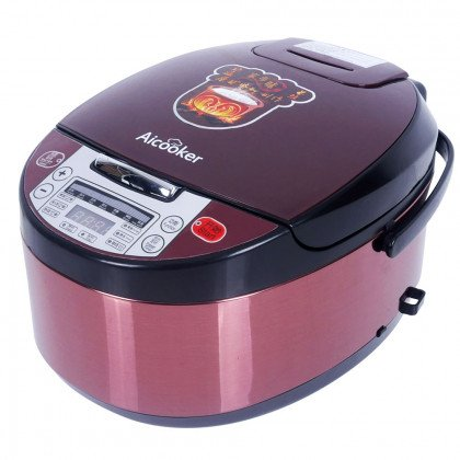 Aicooker Multi-Function Purple Clay Pot Digital Rice Cooker and Slow Cooker F401B,4.0-Liter