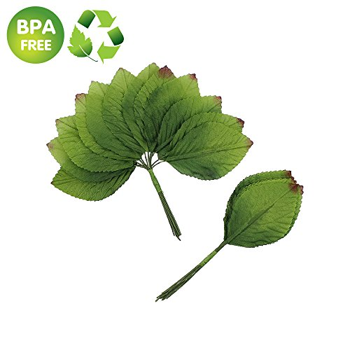 Silk Leaf Green Artificial Leaves Flower DIY Home Decorative Christmas Party Decoration Bouquet Wreaths Wedding Decor 120pcs (Dark Green)