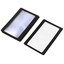 uxcell® 6 Pcs Black Frame Credit Card Reading Magnifier 3x Magnifying Lens