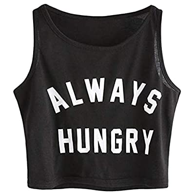 PASATO Women Solid Sleeveless Tee Top O-Neck Sling Vest Tank Shirt Letter Camisole Tank Tops Blouse for Women
