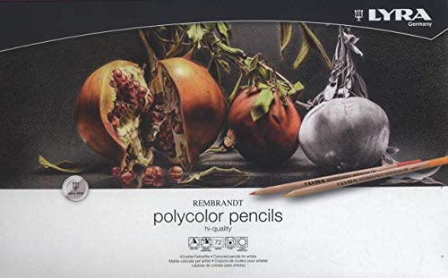 LYRA Rembrandt Polycolor Art Pencils, Set of 72 Pencils, Assorted Colors (2001720) (Renewed)