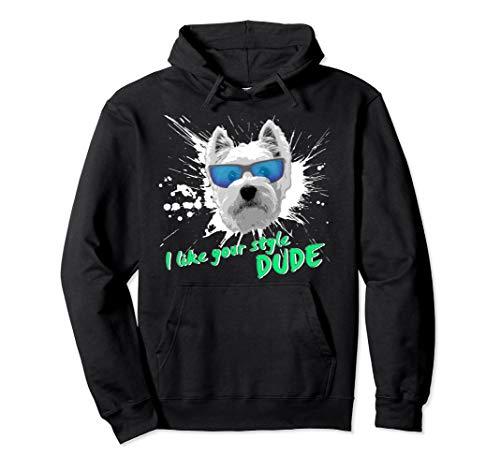 (Westie DUDE Splash Design Pullover Hoodie)