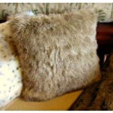 Poshpelts Raccoon Faux Fur Pillow Cushion Cover