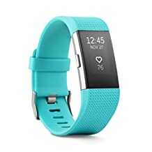 Fitbit FB407STES Charge 2 Heart Rate Plus Fitness Wristband, Teal, Small (US Version)
