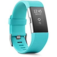 Fitbit Charge 2 Fitness Wristband with Heart Rate Monitor (Large, Teal)