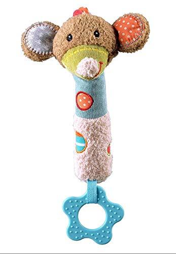 Brinquedo de Pelúcia Multissensorial Rato, Storki, Marrom