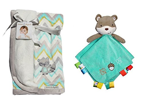 Friendly Fox Snuggle Blanket and Security Toy with Rattle Head
