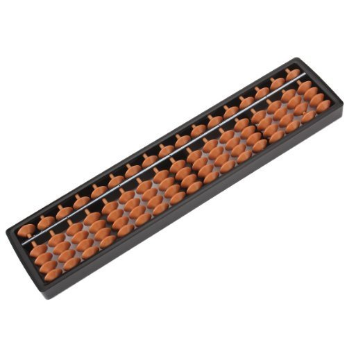 Lucky Will 17 cifre Portable plastica Abaco Abacus Soroban Calcolo Tool Strumento Abaco Pallottoliere