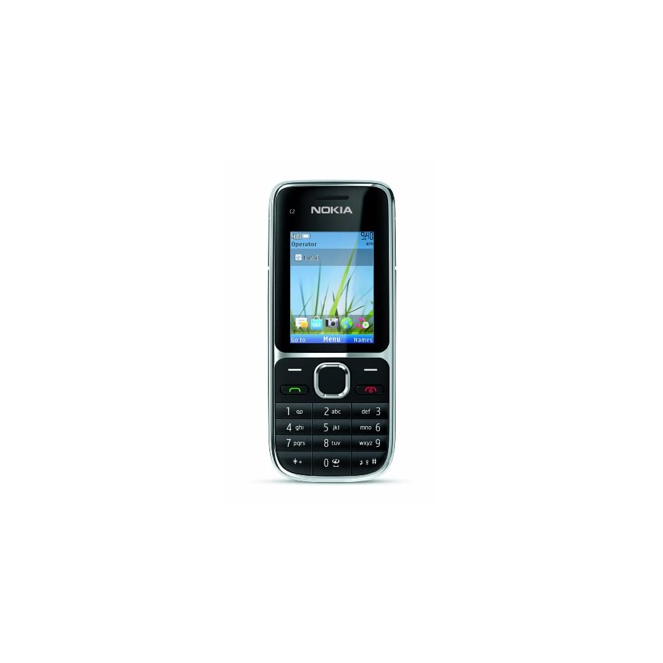 Nokia C2 01.5 Unlocked GSM Phone with 3.2 MP Camera and Music and Video Player  U.S. Version with Warranty (Black)