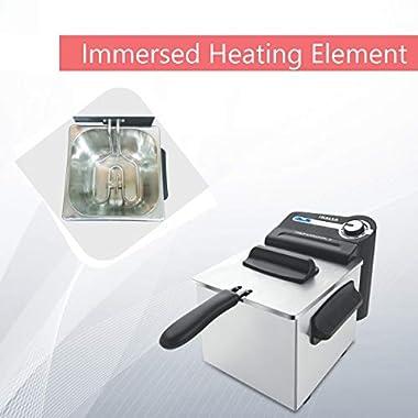 Inalsa Professional 2 Fryer, 18/8 Steel, 2 Liter, Digital Timer, 1700 W, Detachable, Dishwasher Safe, European Energy Efficiency Standard, Stainless Steel, (Grey) 11