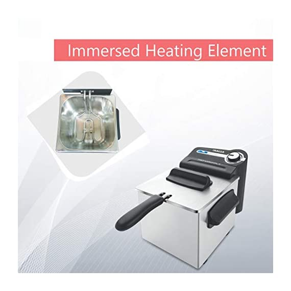 Inalsa Professional 2 Fryer, 18/8 Steel, 2 Liter, Digital Timer, 1700 W, Detachable, Dishwasher Safe, European Energy Efficiency Standard, Stainless Steel, (Grey) 4