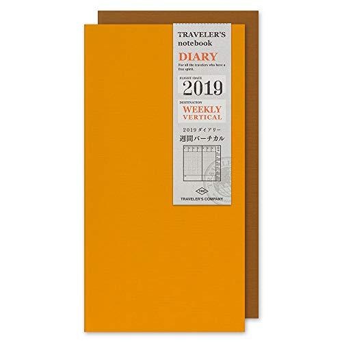 Travelers Notebook Notebook Refill 2019 Regular Slim Weekly Vertical 14396006 (Beginning in January 2019)