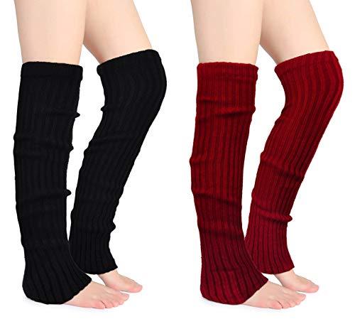 Joyingtwo Women's Winter Over Knee High Footless Socks Thigh Highs Knit Warm Long Leg Warmers - Warmers Knit Leg Stretch