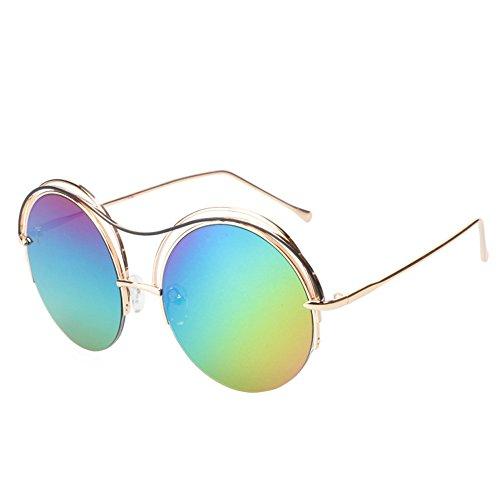 soleil Five lunettes réfléchissantes soleil lunettes lunettes lunettes circulaires GAOLIXIA de neutres de Uv soleil polarisées Colors Petites de qanEda