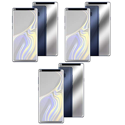 Insten Screen Protector Compatible with Smausng Galaxy Note 9, Mirror Glass Protector [Edge to Edge Protection] Durable Anti-Scratch Bubble-Free Case Friendly Tempered Glass (3-Pack) - Eforcity Clear Crystal Phone Case