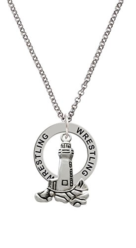 Antiqued Lighthouse - Wrestling Affirmation Ring Necklace by Delight Jewelry