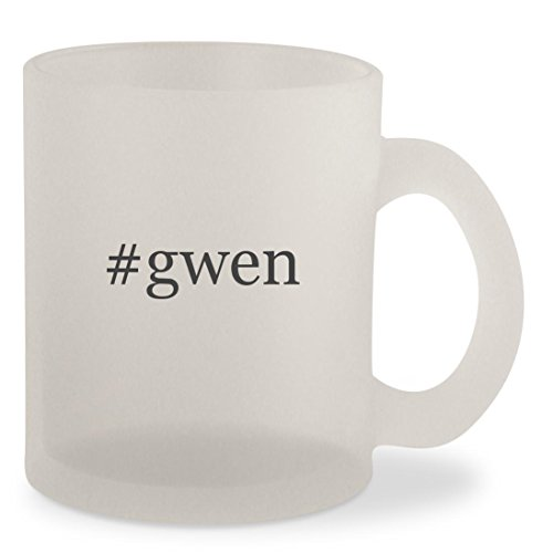 #gwen - Hashtag Frosted 10oz Glass Coffee Cup - Gwen Stefani Sunglasses