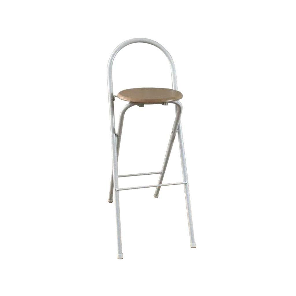 折りたたみ背の高い椅子バーカウンタースツールホームダイニングチェアキャンプポータブル B07MNRMCM2  75cm