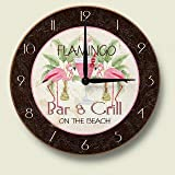 Pink Flamingo Bar and Grill Kitchen Wall Clock
