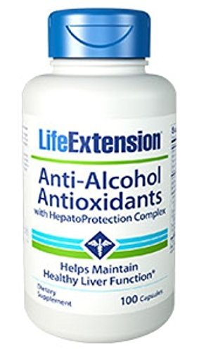 Anti-Alcohol Antioxidants with HepatoProtection Complex 100 capsules-PACK-3 by LifeExtension