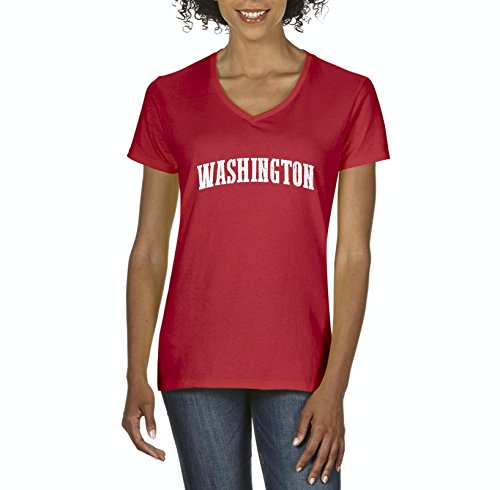 Ugo WA Seattle Map Cougars Redhawks Huskies Home University of Washington Women's V-Neck T-Shirt Tee - Seattle Village Map University
