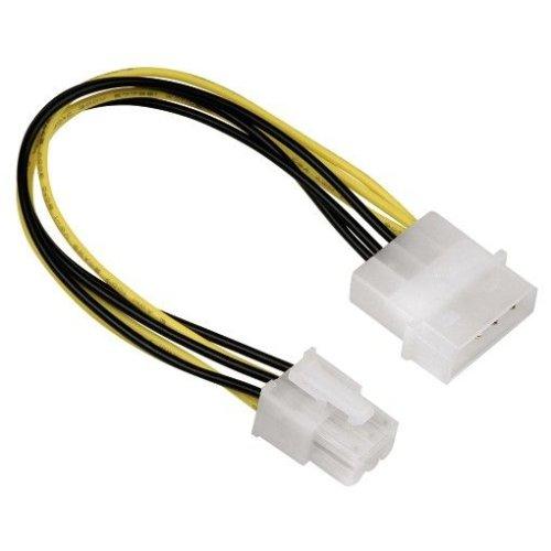 Hama - Power adapter - 4 pin internal power (M) - 6 pin PCI Express power (Agp Pci Pcie)