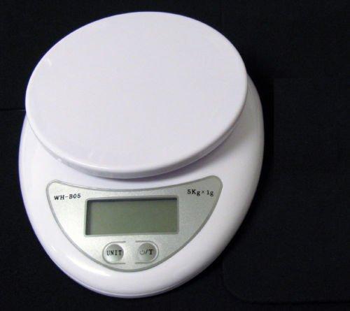 FYL New 5Kg x 1g Digital Kitchen Scale Diet Food Compact Kitchen Scale 10lb x 0.04oz 10 Lb Usb Scale