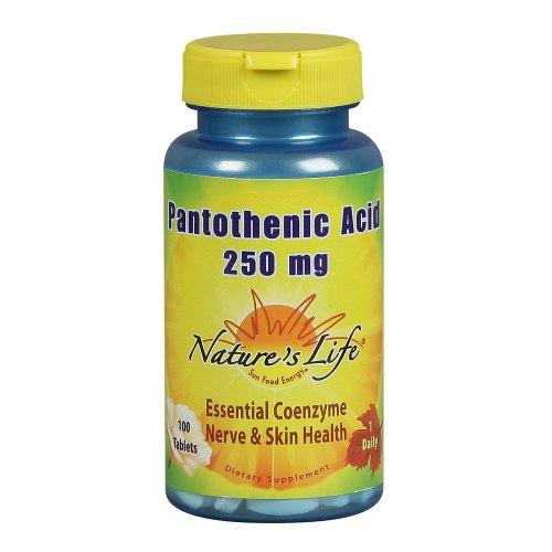 Nature Vie Comprimés Acide pantothénique, 250 mg, 100 Count (Pack de 2)