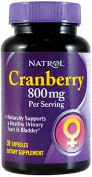 Capsules Natrol Cranberry 800 mg, à 30 Capsules (pack de 2)
