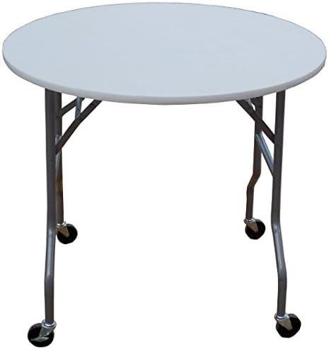 Amazon Com 36 Inch Round Folding Table On Wheels Kitchen Dining