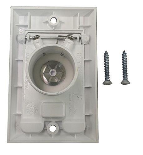 PartsBlast (2) Central Vacuum Square Door Inlet Wall Plate White for Nutone Beam VacuFlow