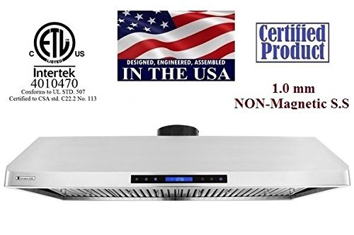 nder Cabinet Mount Range Hood with 900 CFM Baffle Filter/Grease Drain Tunnel, 48