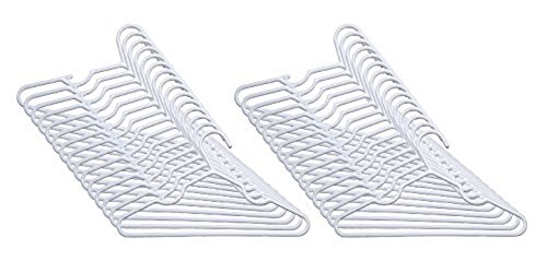 Delta Nursery Hangers 30 Pack For Baby, Toddler, Kids, Children (3 Packs of 10) (White)