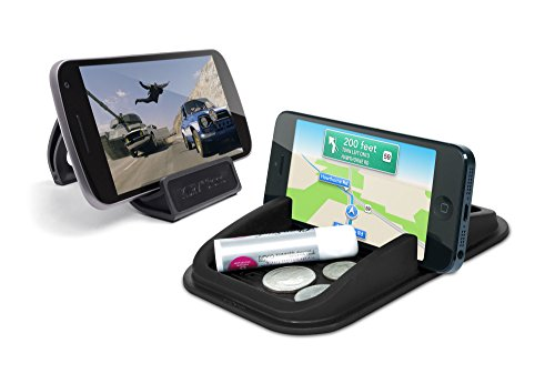 (Roadster + Kurv Stand Road and Office Bundle - Smartphone Holders. No Sticky adhesives and Leaves Behind no Residue. Removable and Reusable.)
