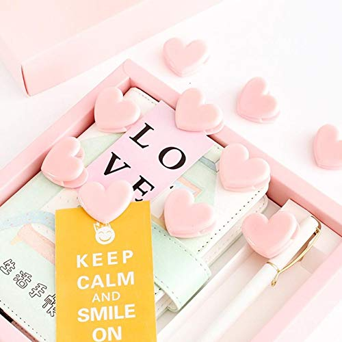 Bag Clips - 10 Pink Heart Plastic Peg Paper Clips Holder Craft Message Photo Memo Note Postcard Home Wedding - Panda Jumbo Bulk Silver Metal Dogs Food Animal Stainless Sizes Magnet Chips B07mkrh1