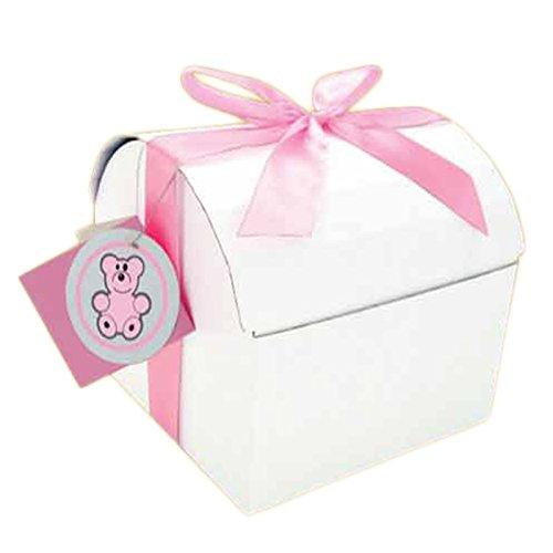 Endless Art US EZ Chest Box , Baby Shower Treasure Box (MEDIUM, PINK) (Treasure Chest Card Box)