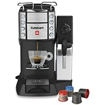 CUISINART for Illy Super Automatic Single Serve Espresso, Caffè Latte and Cappuccino Machine, EM-600C, Black/Silver