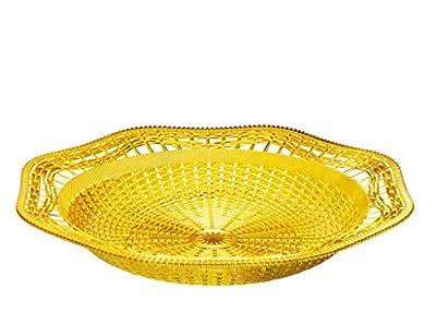 Impressive Creations Reusable Decorative Serving Dish – Plastic Basket with Elegant Gold Finish – Functional and Vintage Design
